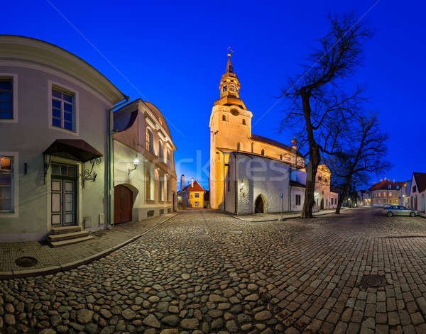 Saint Mary's Cathedral and Kiriku Plats on Toompea Hill in Talli Stock photo © anshar