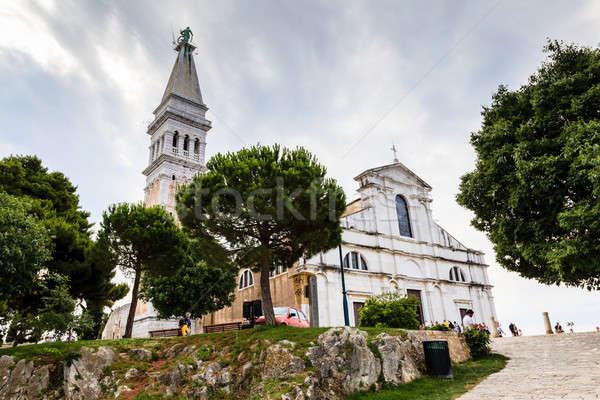 Saint Euphemia Church in the City of Rovinj, Croatia Stock photo © anshar