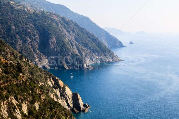 美しい 海岸線 イタリア 自然 風景 海 ストックフォト © anshar