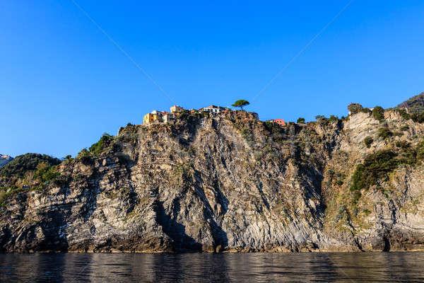 Traditional Village of Corniglia on Top of the Hill in Cinque Te Stock photo © anshar