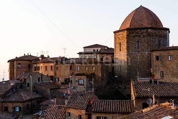 Kubbe evler Toskana İtalya şehir Stok fotoğraf © anshar