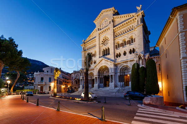 Facade of Saint Nicholas Cathedral in Monaco, Monte Carlo, Franc Stock photo © anshar
