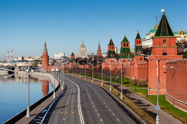 View on Moscow Kremlin Wall and Moscow River Embankment, Russia Stock photo © anshar