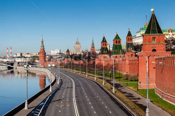 Görmek Moskova Kremlin duvar nehir Rusya Stok fotoğraf © anshar