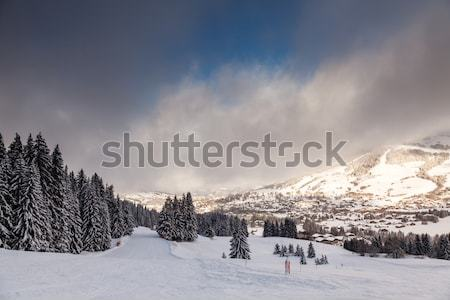 Downhill Ski Slope near Megeve in French Alps, France Stock photo © anshar