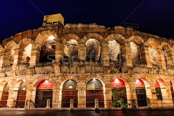 Antigua anfiteatro sujetador verona Italia cielo Foto stock © anshar