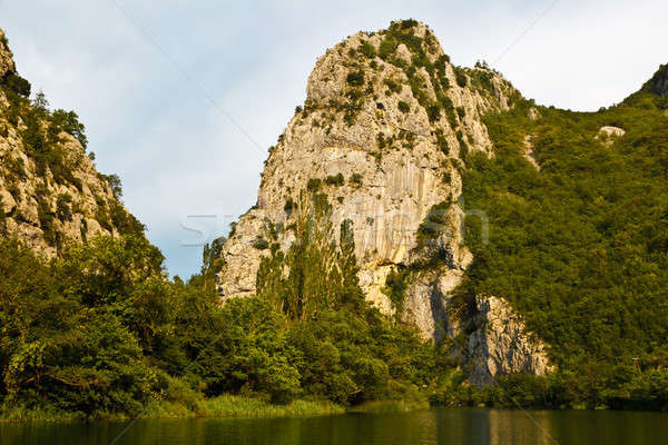 Kanyon dağ nehir Hırvatistan su bulutlar Stok fotoğraf © anshar