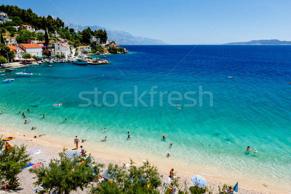 Gyönyörű tengerpart türkiz víz égbolt természet Stock fotó © anshar 3c750da0d3