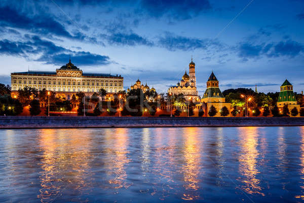 Moscow Kremlin and Moscow River Illuminated in the Evening, Russ Stock photo © anshar