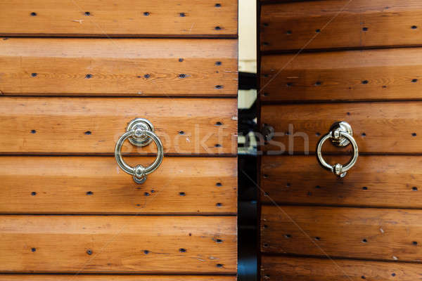 Old Wooden Door with Metal Knockers in Verona, Veneto, Italy Stock photo © anshar
