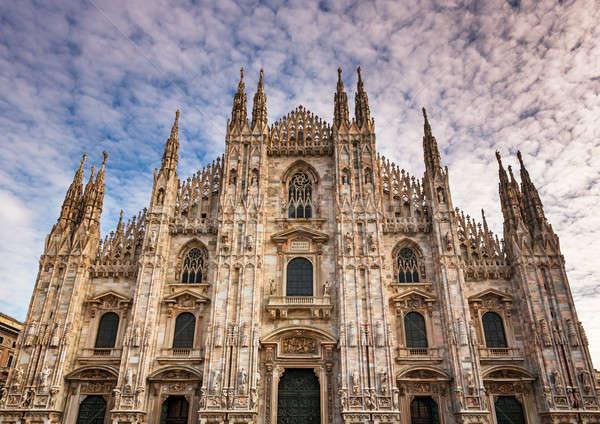 Fachada milan catedral manhã Itália cidade Foto stock © anshar