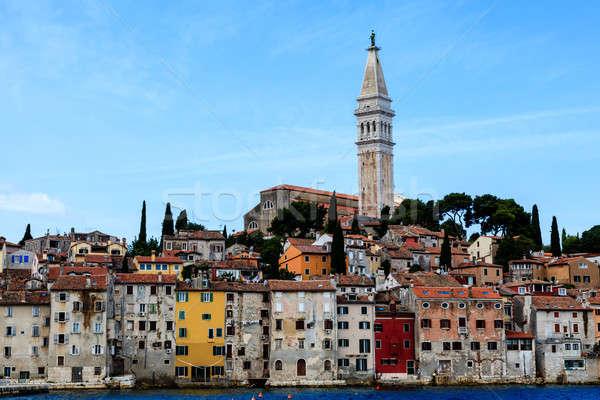 şehir aziz kilise Hırvatistan gökyüzü su Stok fotoğraf © anshar