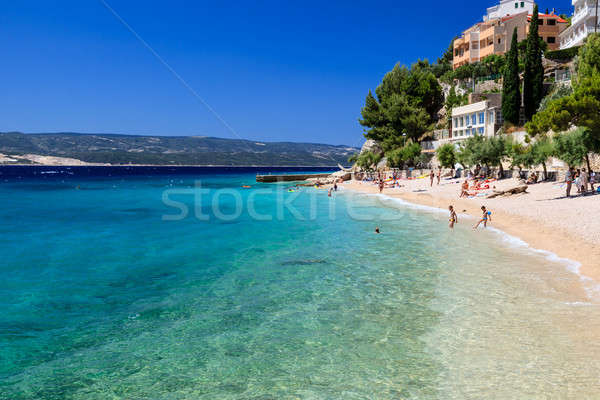 Stock photo: Deep Blue Sea with Transparent Water and Beautiful Adriatic Beac