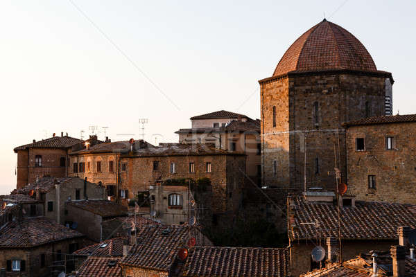 Evening in the Small Town of Volterra in Tuscany, Italy Stock photo © anshar