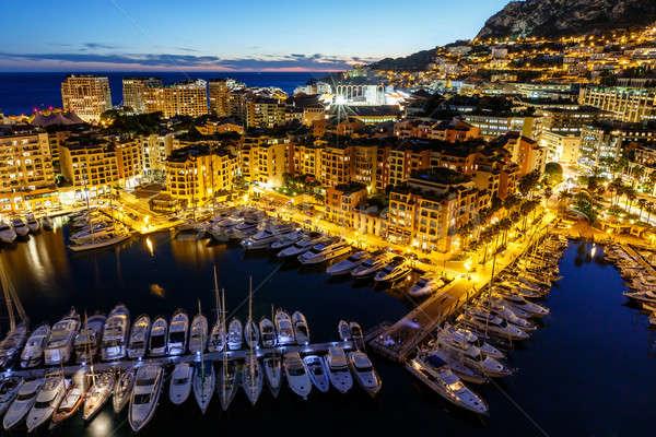 Monaco port luxe français eau Photo stock © anshar