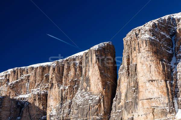 Cliffs on Peak Vallon at Ski Resort of Corvara, Alta Badia, Dolo Stock photo © anshar