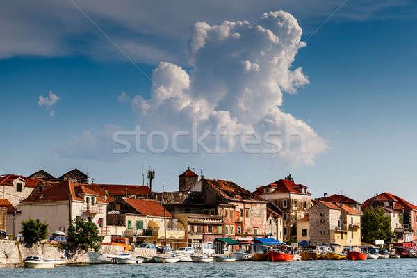 Medieval City of Omis on the River Cetina, Dalmatia, Croatia Stock photo © anshar