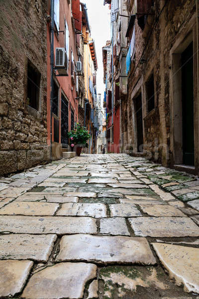 узкий улице город Хорватия дома дороги Сток-фото © anshar