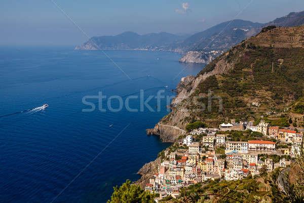 Beautiful View on Village of Riomaggiore and Cinque Terre, Italy Stock photo © anshar