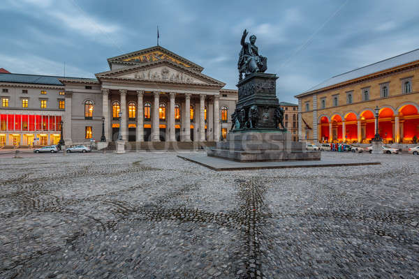 The National Theatre of Munich, Located at Max-Joseph-Platz Squa Stock photo © anshar