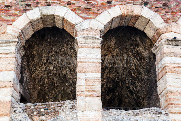 Ancient Roman Amphitheater on Piazza Bra in Verona, Veneto, Ital Stock photo © anshar