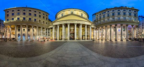 Панорама квадратный Церкви святой Милан Италия Сток-фото © anshar