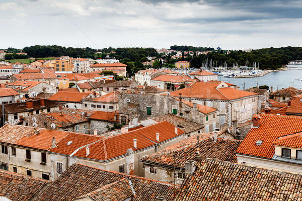 Stock photo: Panoramic View on Red Roofs of Porec, Croatia