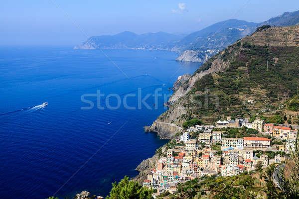 красивой мнение деревне Италия путешествия зданий Сток-фото © anshar