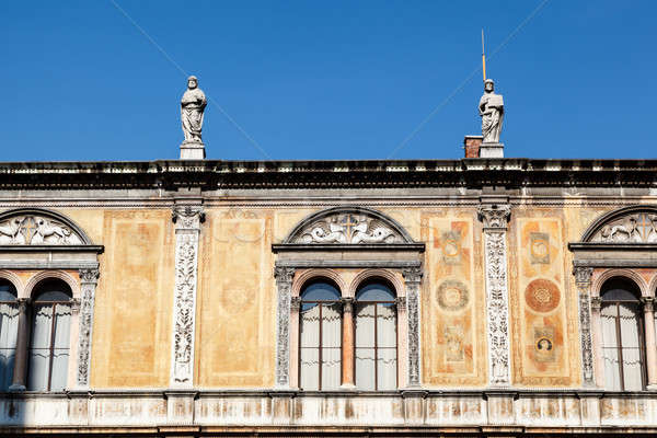 Palace Facade on Piazza dei Signoria in Verona, Veneto, Italy Stock photo © anshar