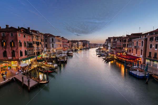 表示 運河 橋 ヴェネツィア イタリア 水 ストックフォト © anshar