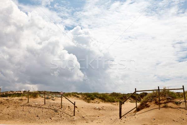Cerca playa Lisboa Portugal mar desierto Foto stock © anshar