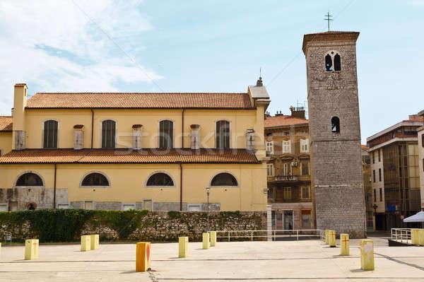Stock photo: Old Church and Bell Tower in Rijeka, Croatia