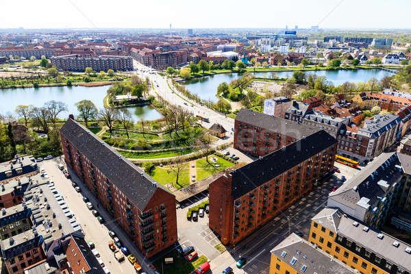 Копенгаген Дания дома улице Сток-фото © anshar