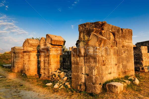 римской руин древних города город природы Сток-фото © anshar