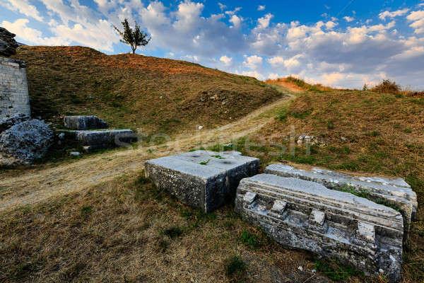 Roman Ampitheater Ruins in the Ancient Town of Salona near Split Stock photo © anshar