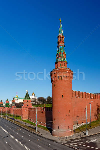 Moscou Kremlin mur tour Russie bâtiment Photo stock © anshar