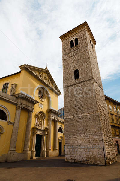 Stock photo: Old Church with Pillars and Bell Tower in Rijeka, Croatia