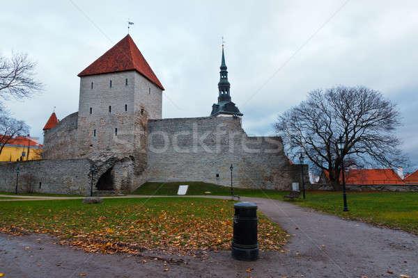 Stad muur oude Tallinn Estland Stockfoto © anshar
