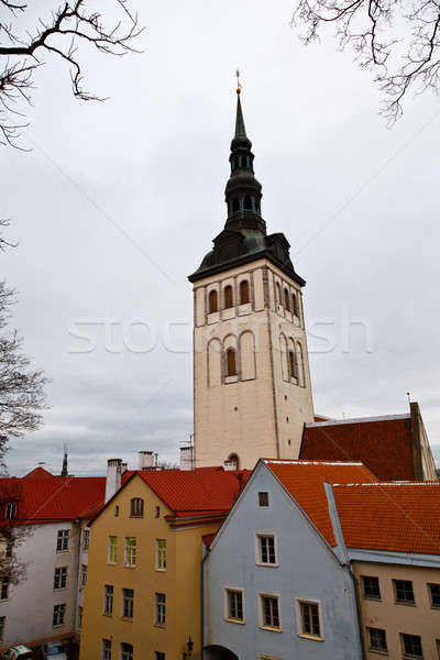 Saint Olaf Church in Old Tallinn, Estonia Stock photo © anshar