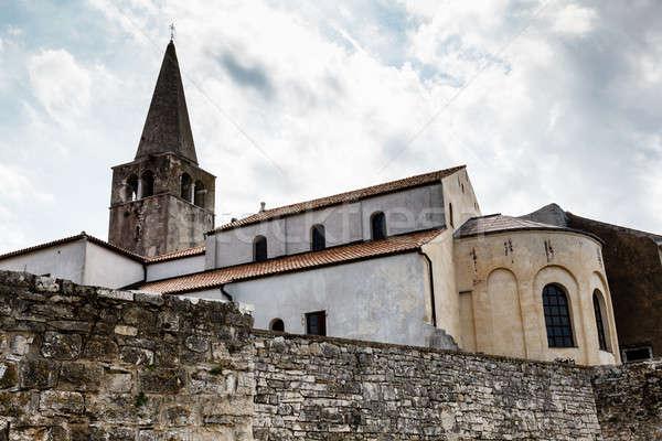 Euphrasius Church in Porec, Croatia Stock photo © anshar