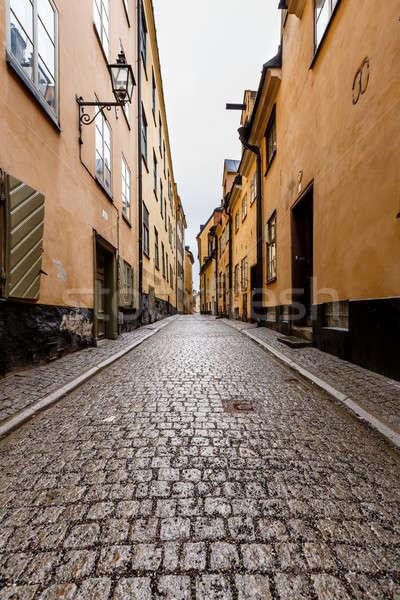 狭い 通り 旧市街 ストックホルム スウェーデン 家 ストックフォト © anshar