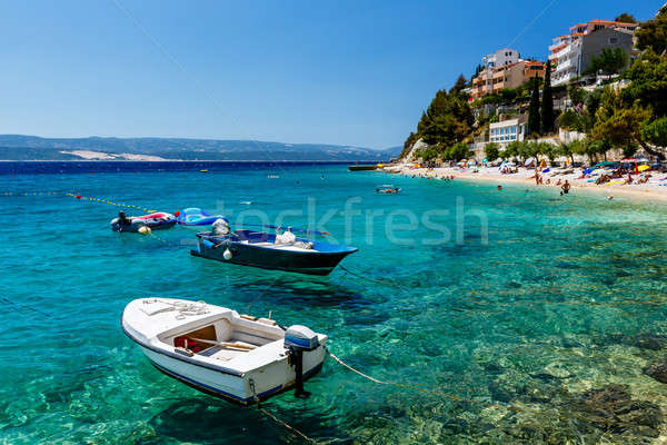 Motor Boats in a Quiet Bay near Split, Croatia Stock photo © anshar