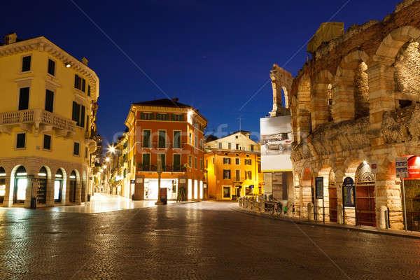 Imagens antigo romano anfiteatro verona Itália Foto stock © anshar