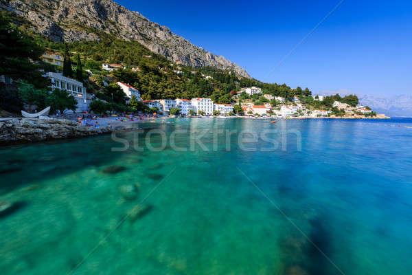 Beautiful Beach and Transparent Turquoise Adriatic Sea near Spli Stock photo © anshar