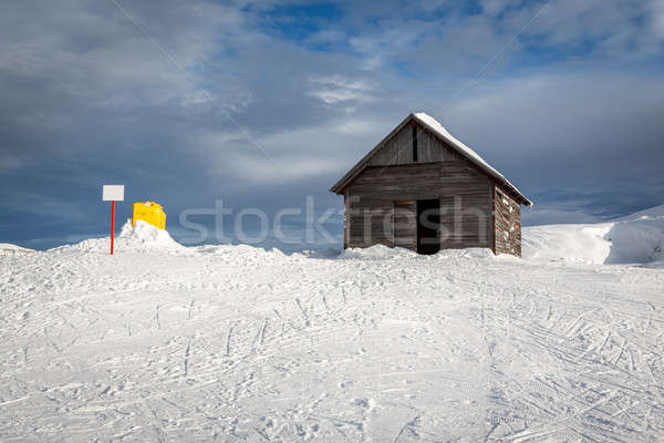 Old Barn in Madonna di Campiglio Ski Resort, Italian Alps, Italy Stock photo © anshar