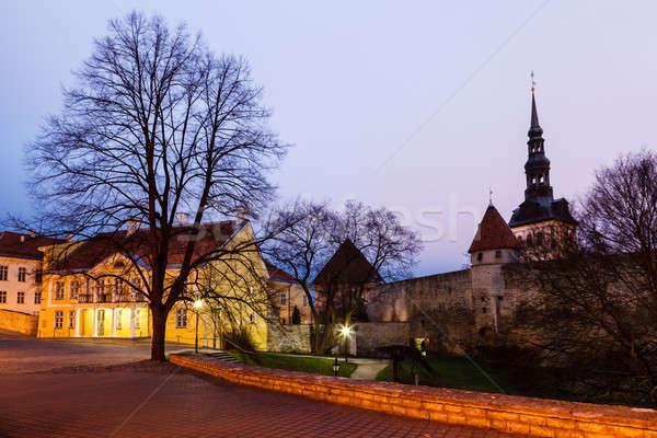 Città muri torri città vecchia Tallinn Foto d'archivio © anshar