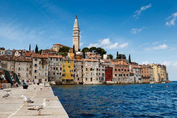 Pier cidade península Croácia casa paisagem Foto stock © anshar