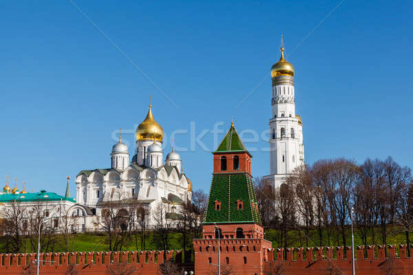 Moscow Kremlin Wall and Ivan the Great Bell Tower, Russia Stock photo © anshar