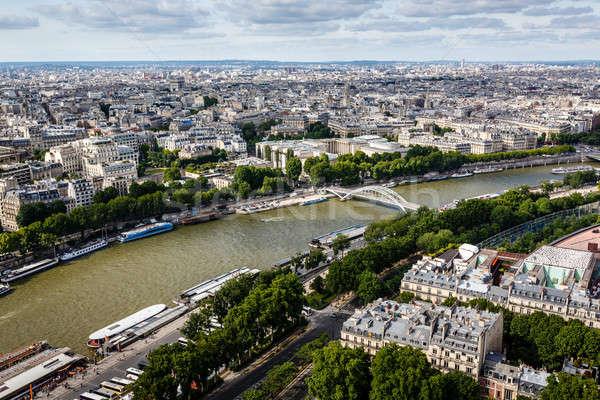 Nehir Eyfel Kulesi Paris Fransa ağaç Stok fotoğraf © anshar