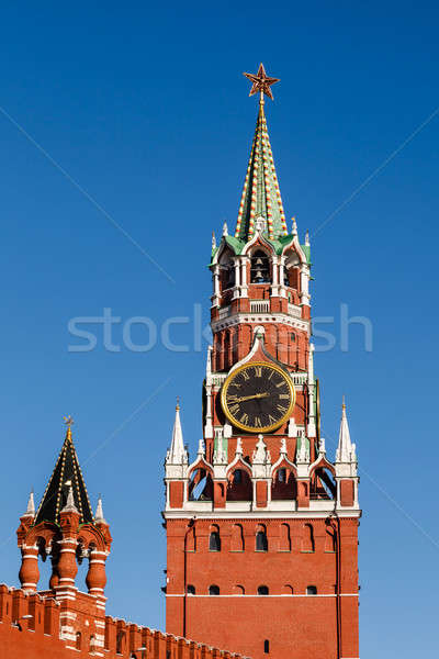 Spasskaya Tower of Kremlin on the Red Square in Moscow, Russia Stock photo © anshar
